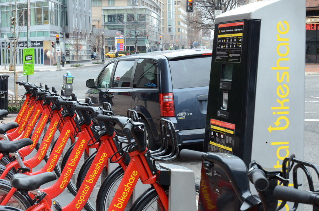 DCの至る所にあるレンタルバイク Capital Bikeshare